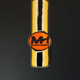 Mudhugger Long Decals 5 Pieces yellow